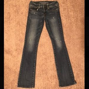 American Eagle distressed bootcut jeans